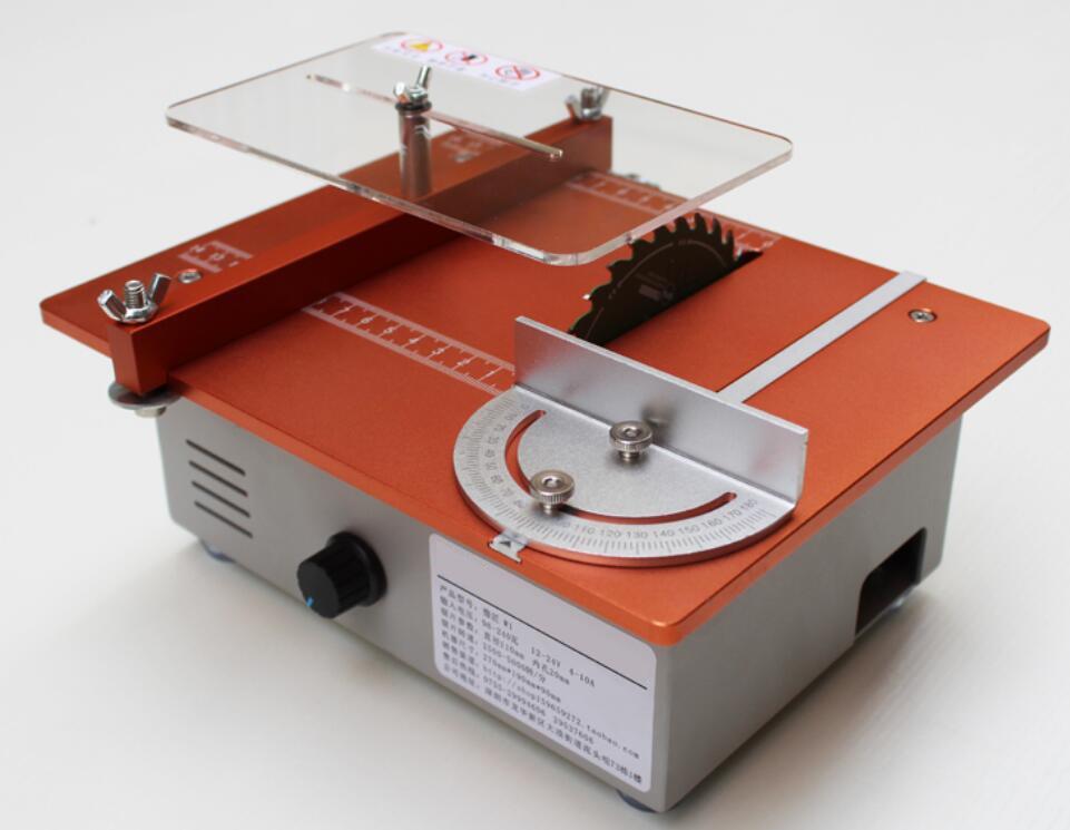 Mini DIY Table saw Table Woodworking Cutting Machine Mini Cutter Acrylic Wood PCB Cutter Stepless