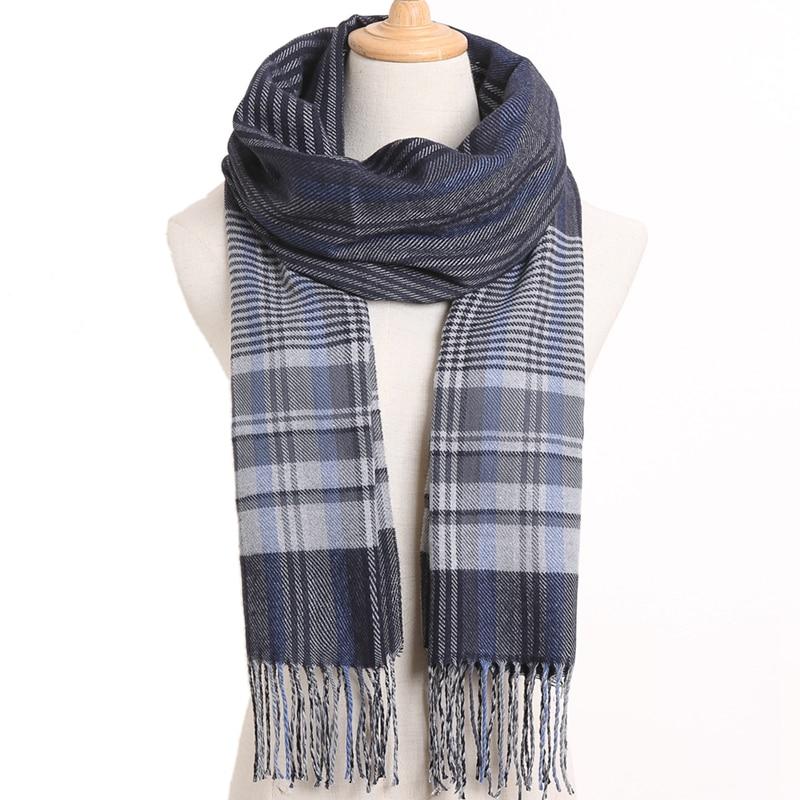 [VIANOSI] клетчатый зимний шарф женский тёплый платок одноцветные шарфы модные шарфы на каждый день кашемировые шарфы - Цвет: 54