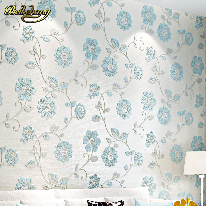 beibehang Holy hundred non-woven living room wallpaper 3D romantic pastoral bedroom wall paper TV back ground papier peint photo