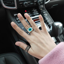 Miyuki Kralen Ring Nieuwe Mode Populaire Accessoires Geweven Turkije Evil Eye Vrouw of Man Party Geschenken Gothic Dropshipping Ring Set(China)