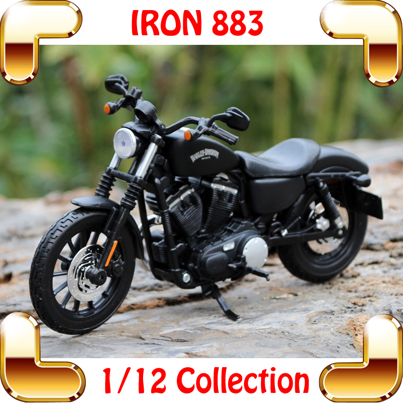 New Year Gift IRON 883 <font><b>1/12</b></font> <font><b>Model</b></font> <font><b>Motorcycle</b></font> Alloy Toys Vehicle Collection Real Simulation Decoration Motorbike image