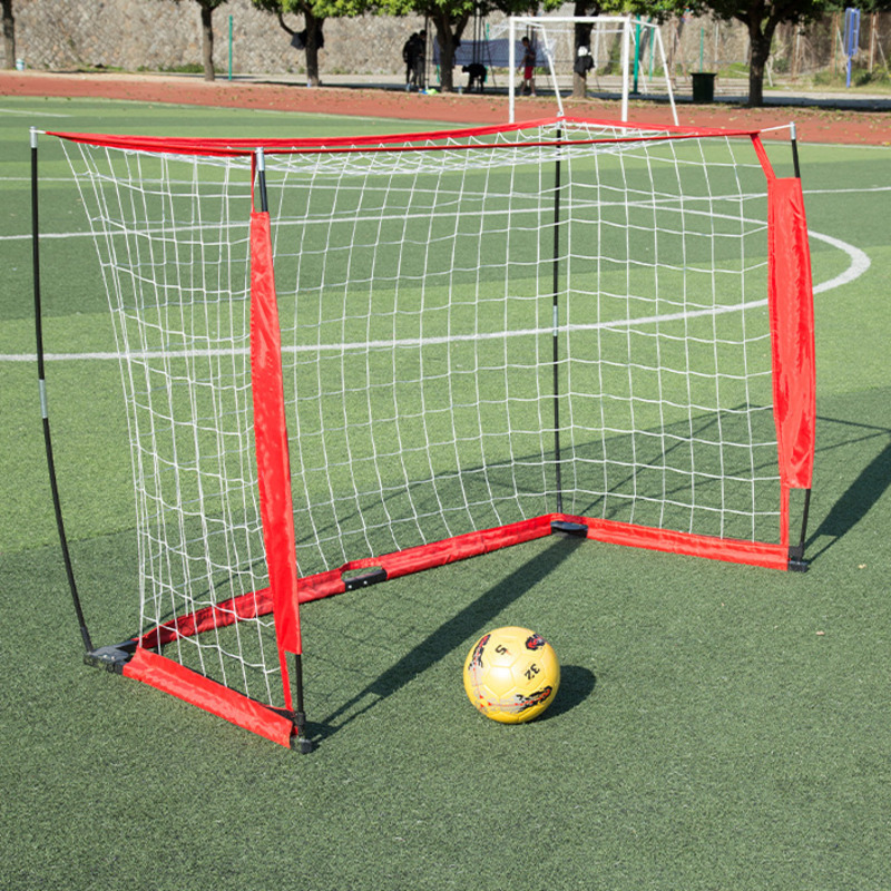 Kids diy portable Indoor mini football gate with net Children 6*4*2 feet Outdoor Training Backyard Playground soccer door B81405 folding soccer goal portable child pop up soccer goals for kids sports training backyard playground outdoor sports high quality