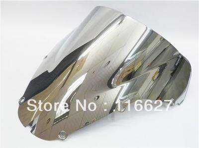 Бесплатная доставка хром двойной пузырь лобовое стекло для Хонда 2000-2001 CBR929RR ЦБ РФ 929 рублей 929RR