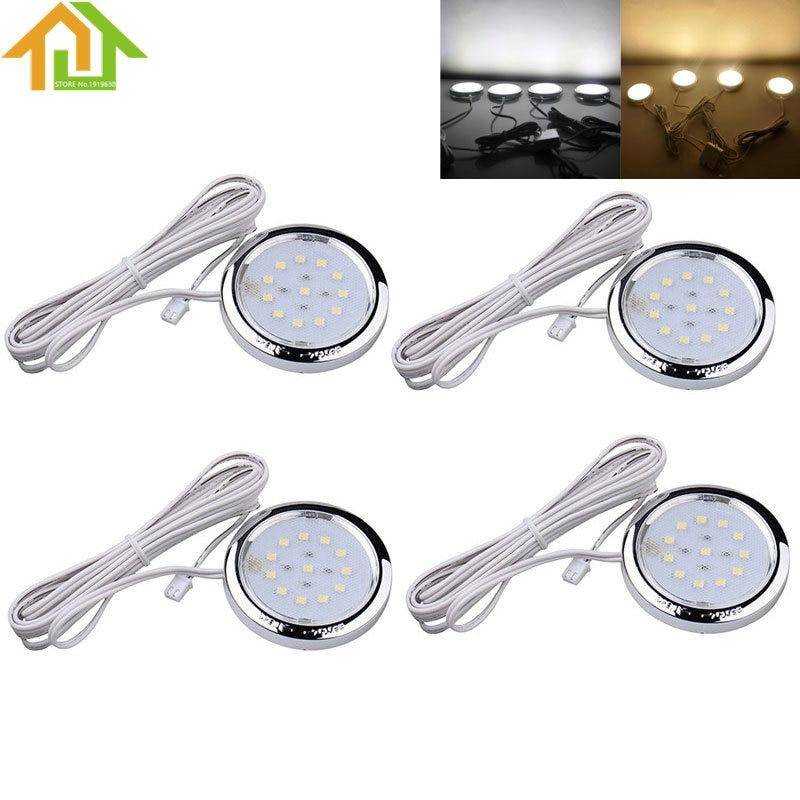 4Pcs Home Kitchen Led Under Cabinet Shelf Accent Lighting