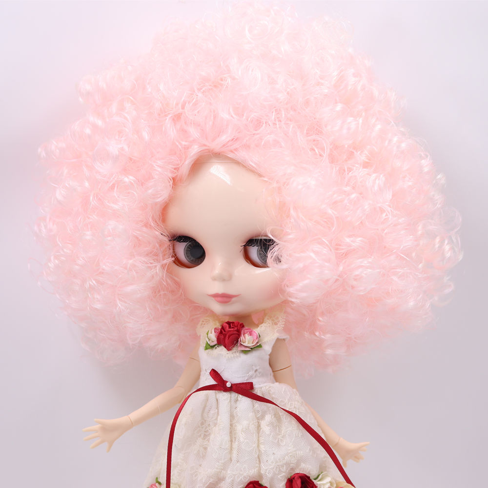 ICY Nude Factory Blyth doll No QE126 QE300 Pink Afro hair JOINT body White skin Neo