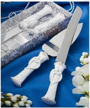 Hot Sale Marriage western-style Heart shape Cake Knife + shovel + gift box Serving Set Wedding birthday Cake cutting Supplies