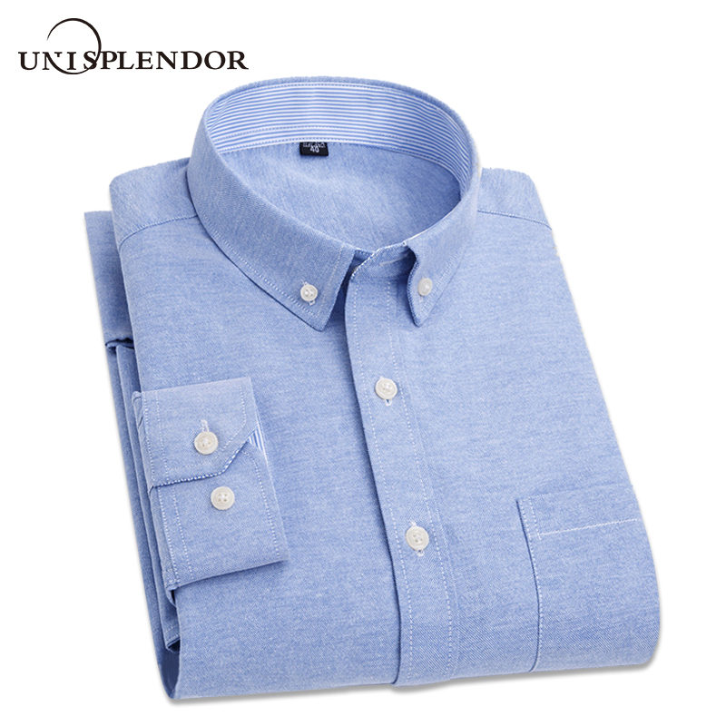 2019 New Arrival Brand Men's Shirts Long Sleeve Full Solid Mans Shirt Plus Size Business Male Dress Shirts Casual Tops YN10254