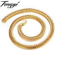 Punk Man 18K Yellow Gold Platdd Figaro Chain Womans Mans Chain Necklace Gift Wholesale Price 627