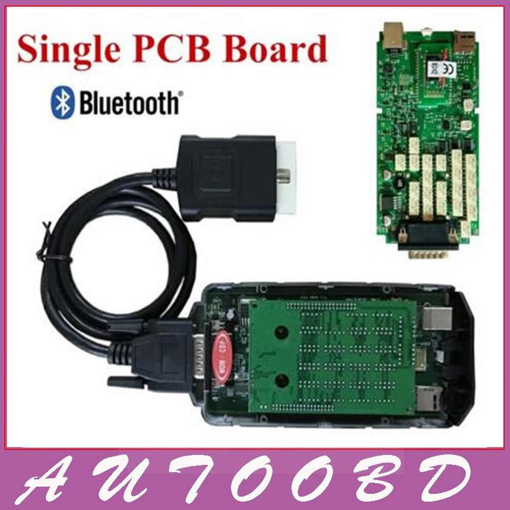 Bluetooth function!! VD TCS CDP Scanner Single Green Board WOW CDP with 5.008R2 Keygen+Carton Box for OBD2 OBDII Cars Trucks  with bluetooth function super tcs cdp pro plus keygen led 3 in1 sn 100251 obdii obd obd2 scanner diagnostic interface cdp pro
