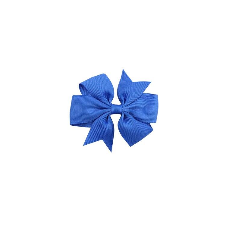 40 цветов сплошная корсажная лента банты заколки шпилька девушка бант для волос, бутик заколки для волос аксессуары для волос - Color: a06 Royal Blue