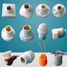 universal 110v-250v 110v 220v LED e27 lamp holder e27 socket lamp base bulb holder e14 lamp holder free shipping