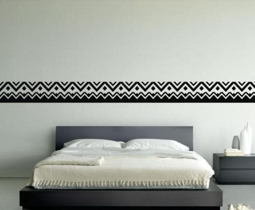 wallpaper borders for bedrooms lines zigzag abstract line vinyl wall sticker room decal 17767