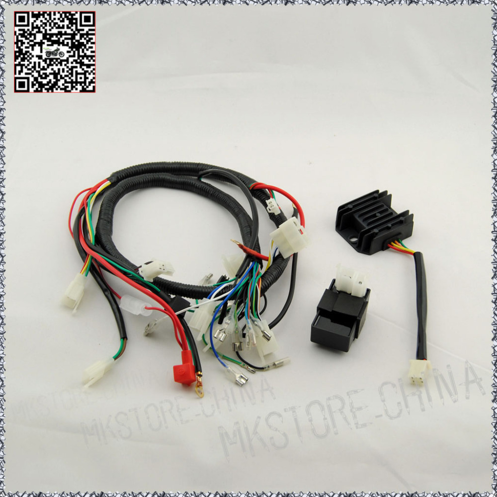 250CC+RECTIFIER+CDI QUAD WIRING HARNESS 200 250cc Chinese Electric start  Loncin zongshen ducar Lifan free shipping-in ATV Parts & Accessories from  ...