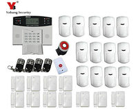 Freeshipping DHL Gsm Intelligent Alarm System Wireless GSM Alarm System With German Manual Remote Two Way