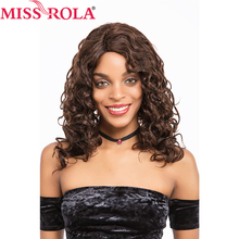 Miss Rola Hair Brazilian Virgin Hair Loose Wave Wigs #2/4 for Black Women Frontal Lace Wig Non-remy Hair