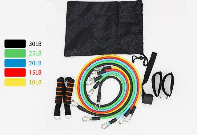 11 Pcs Set Latex Resistance Bands Crossfit Training Exercise Yoga Tubes Pull Rope Rubber Expander Elastic