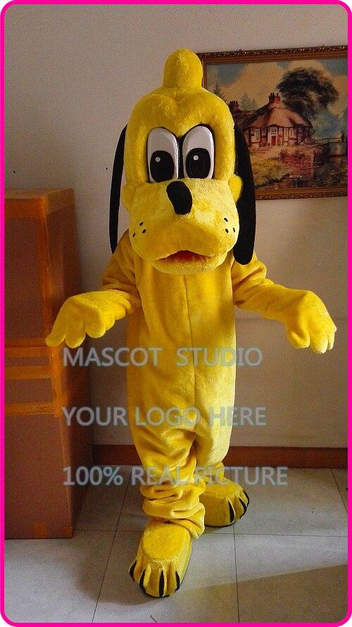 mascot yellow plush pluto mascot costume cartoon character