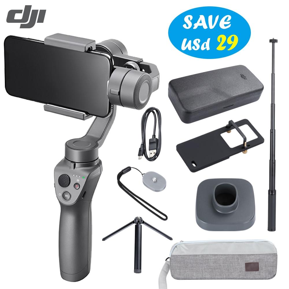 DJI Osmo Mobile 2 stabilisateur 3 axes cardan portable pour Smartphone Gopro caméra téléphones Xs iPhone 8 (contrôle vidéo/Zoom fluide)