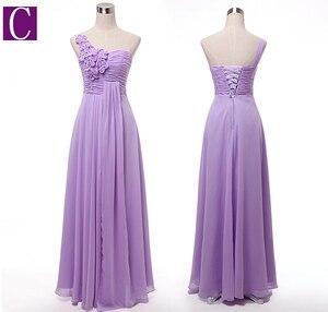 Image 4 - Sorella della sposa più il formato delle donne robe mariage lavanda donna abiti da damigella donore senza bretelle lungo luce viola lilla abito abito