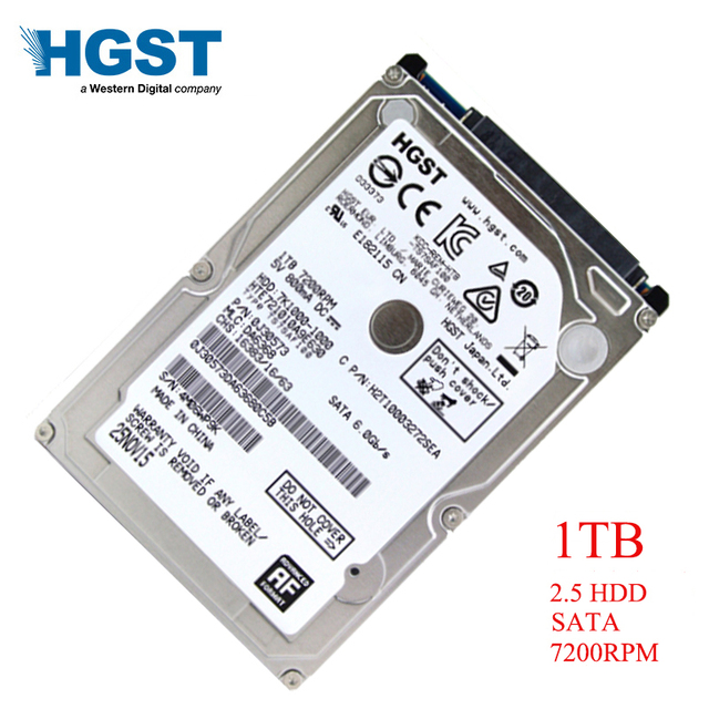 "HGST Brand Laptop PC 2.5 ""1000GB SATA3 HTS721010A9E630 1TB Notebook hdd hard disk drive 6GB/S 7200RPM"