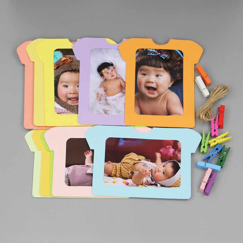 الطفل الهدايا التذكارية إطار صور بصمات الطفل حامل صور هدايا أعياد ميلاد للأطفال غرفة زينة فراشة أبل تي شيرت إطار صور