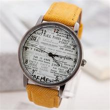 New Fashion Leather Quartz Punk Style Promotion Relogio feminino Vintage Retro Casual Newspaper Dial Watch Lady Women Wristwatch