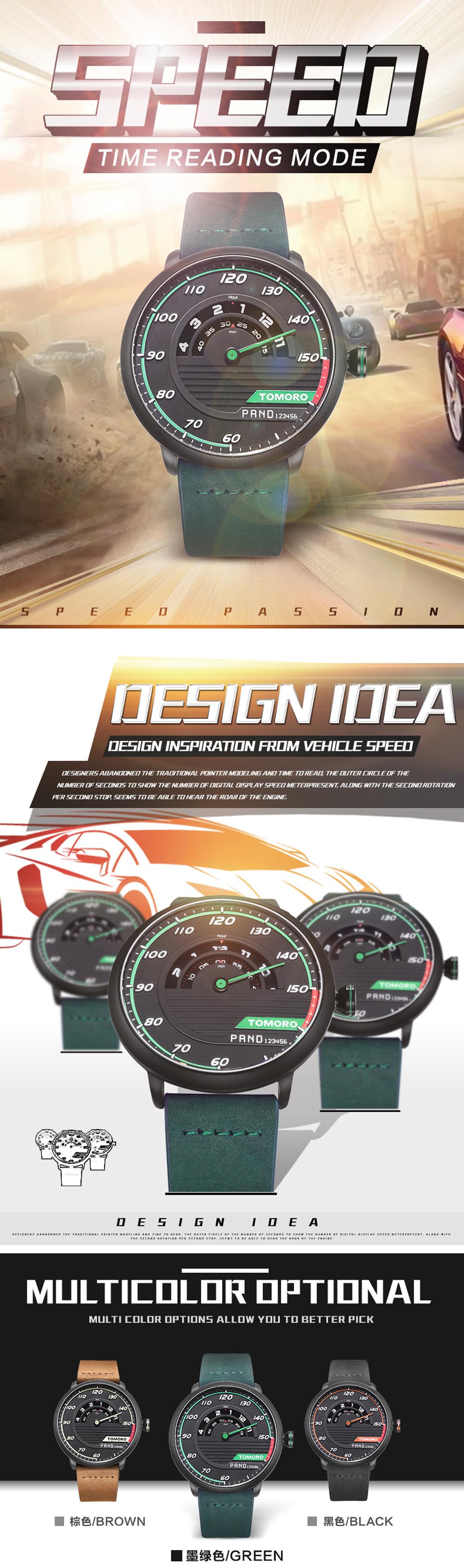 HTB1unZ3QFXXXXc6XVXXq6xXFXXXY TOMORO Men's Unique Racing Car 3D Design Wrist Watch