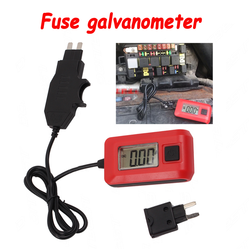 High Accuracy 0.01A ~ 19.99A Automotive Fuse Galvanometer Leakage Tester Car Circuit Fault Finding Vehicle Fuse Diagnostic Tool