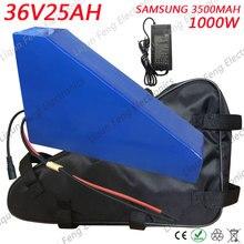 Бесплатный Таможенный налог 1000 Вт 36 В 25AH треугольник литиевая батарея 36 В 25AH батарея для электрического велосипеда ИСПОЛЬЗОВАТЬ SAMSUNG 35E ячейка 50A BMS