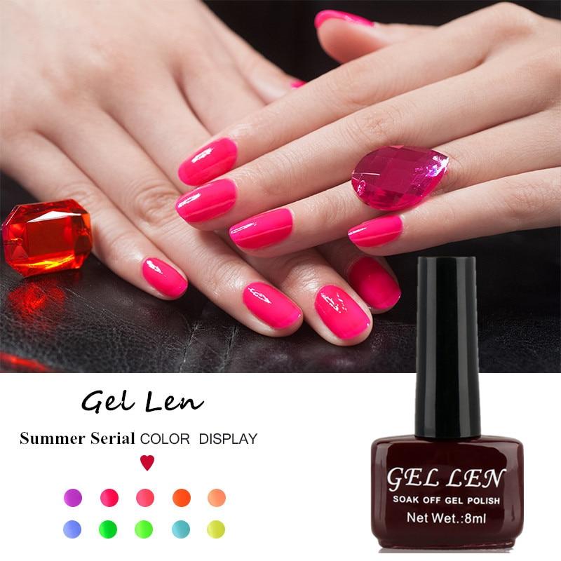 Gel Nail Polish Sale: Gel Nail Polish Gel Len Long Lasting Soak Off UV/LED Nail