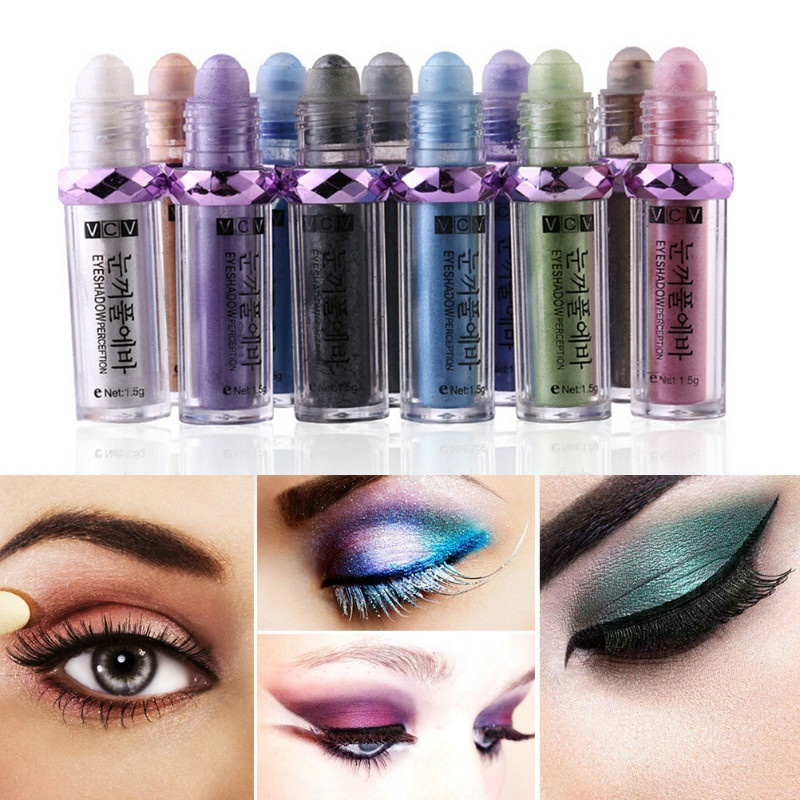 14 Color Eye Shadow Shiny Powder Stick Long Lasting