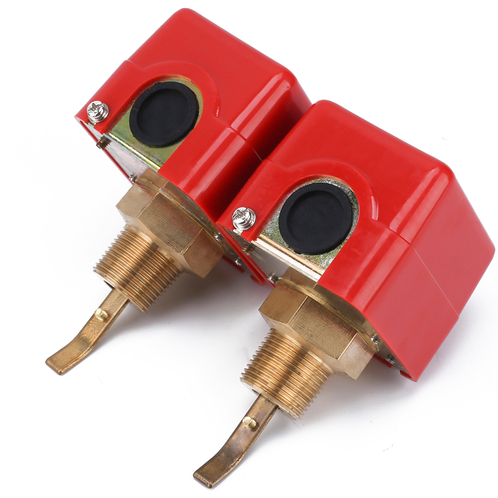 ELECALL 2pcs 3/4'' 220VAC Water/Paddle Flow Sensors Male Thread Flow Paddle Water Pump Flow Switch HFS-20 zndiy bry hfs 20 spdt ac 250v 15a water flow control switch red