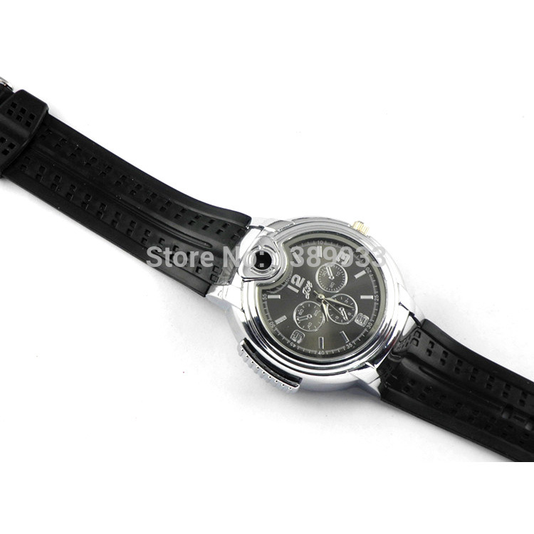 Originality Cool Fashion Novel Wrist Watch Refillable Butane Gas Cigarette Cigar Lighter T50