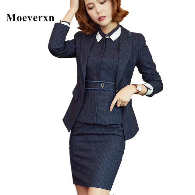 eed8cd974604 placeholder 3 Piece Sets Women Office Skirt Business Jacket Vest Suits Long  Sleeve OL Elegant Lady Formal