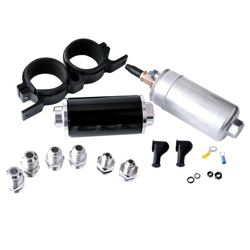 SPEEDWOW 60mm Aluminum Double Fuel Pump Bracket Fuel Filter Bracket With 1 pcs Fuel Filter Fuel