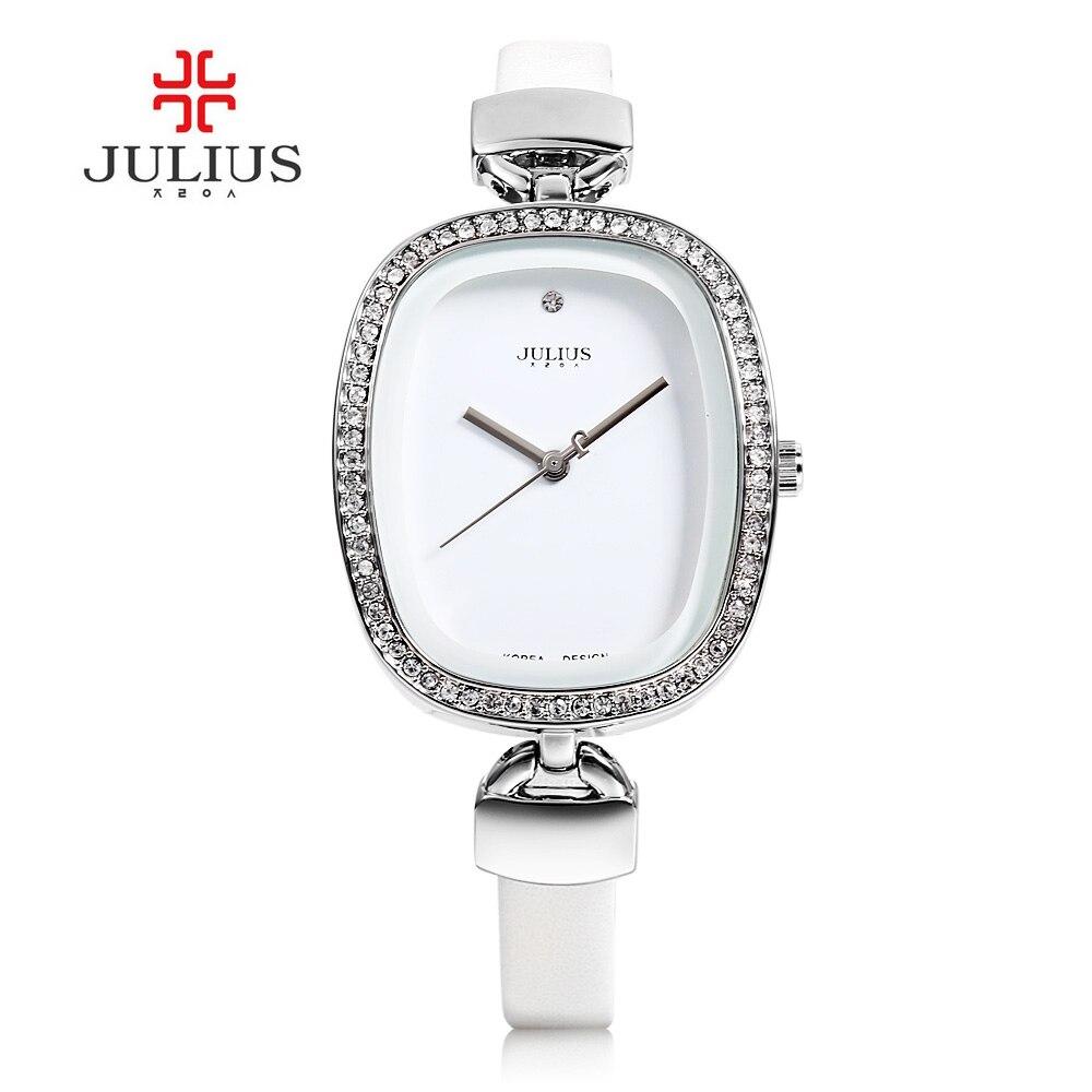 f72cd47bdfa 2017 Julius Marca Ouro Rosa As Mulheres Se Vestem Relógio Relógio de  Quartzo de Couro Da Mulher Da Forma Criativa Relógios de Pulso Relógio  Relogio Feminino