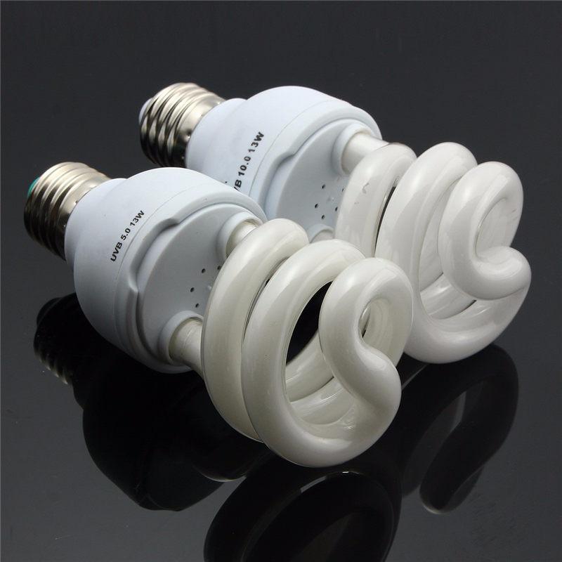 Uv Lampe E27 5,0 10,0 UVB 13 Watt Reptil licht Glow Lampe Tageslichtlampe Heizstrahler für Schildkröte Fisch amphibien