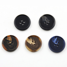 High-grade resin button black pattern four eyes casual suit coat dress buttons