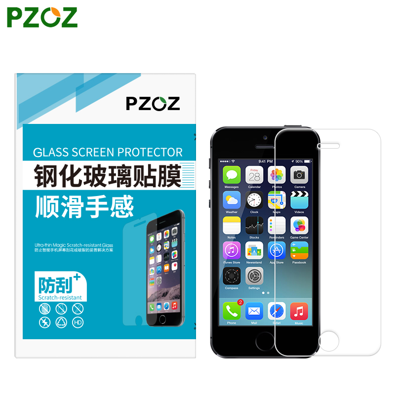 PZOZ Tempered Glass For iphone 5 Original For iphone 5S