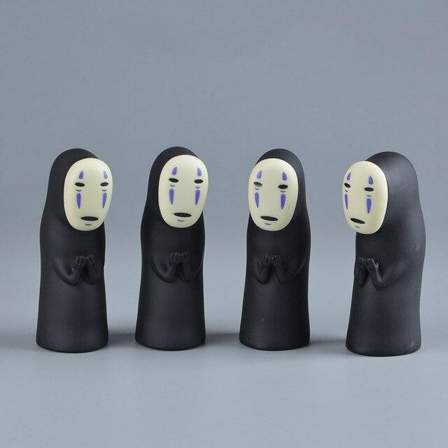 Studio Ghibli Hayao Miyazaki A Viagem de Chihiro No Rosto Homem Vinil Figura de Ação Anime Modelo Kaonashi 8 cm Decoração Boneca Crianças brinquedos