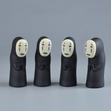 Studio Ghibli Spirited Away No Face Man Vinyl Action Figure Miyazaki Hayao Anime Kaonashi Model 8cm Decoration Doll Kids Toys(China)