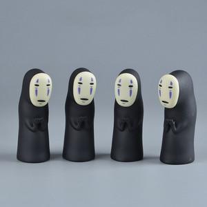 Studio Ghibli Spirited Away No Face Man Vinyl Action Figure Miyazaki Hayao Anime Kaonashi Model 8cm Decoration Doll Kids Toys(China)