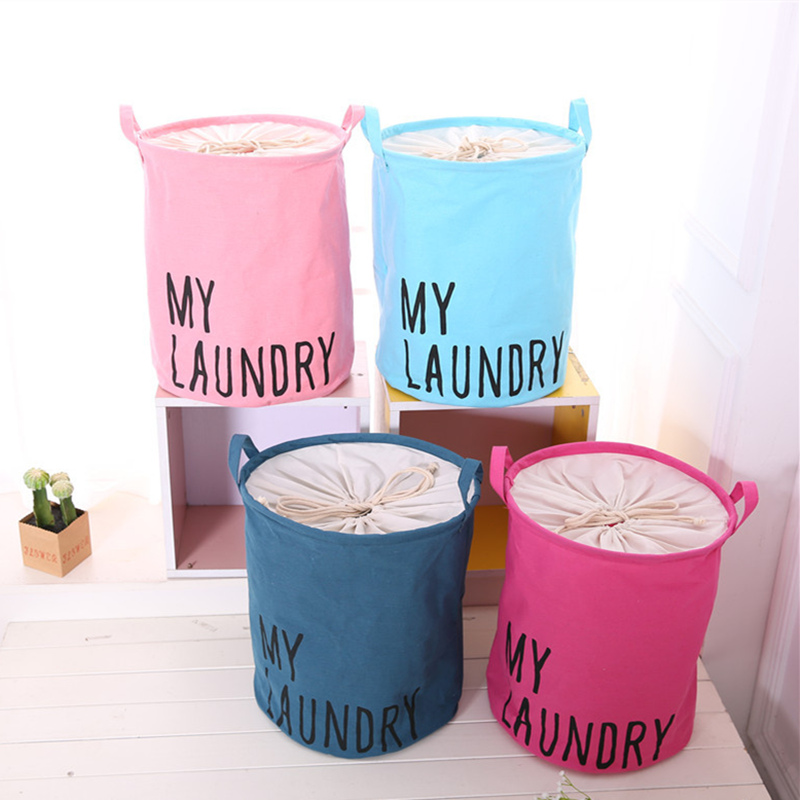 Laundry Basket Bag Clothes Organizer 35x40cm Pink/Red/Blue Storage Barrel Toy Container Organization Home storage HouseholdLaundry Basket Bag Clothes Organizer 35x40cm Pink/Red/Blue Storage Barrel Toy Container Organization Home storage Household