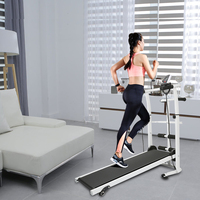 Household Multi-Functional Mini Indoor Small Silent Foldable Fitness Equipment Mechanical Treadmill Large Fitness Equipment HWC