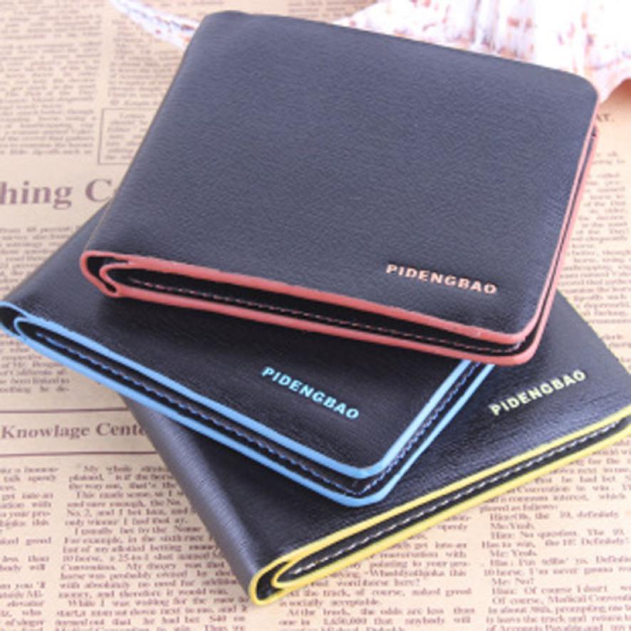 Brand New Mens Wallet 2017 New Design mens wallet Leather Bifold Credit/ID Cards Holder Slim Wallet carteira masculina Hot Sale