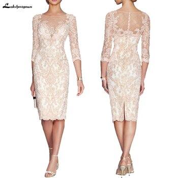 51c5ee1d20e Lakshmigown кружевное платье для мамы формальное платье-футляр для матери  невесты платье с прозрачной шеей