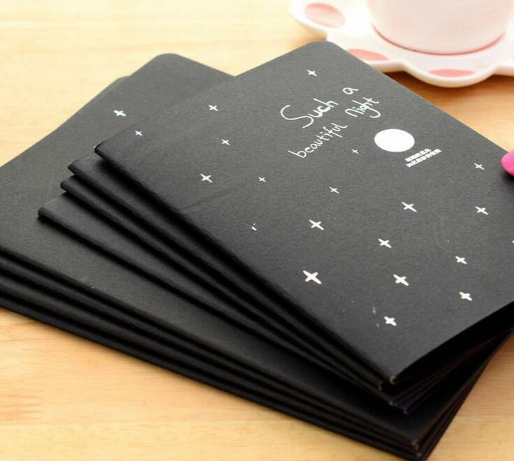 Sketch Book Diary Black Paper Drawing Notepad Graffiti Notebook Set For Painting Office School Stationery Gifts Artist Supplies romantic sky starry a5 schedule book diary notebook drawing painting graffiti sketch book student stationery notepad stationery