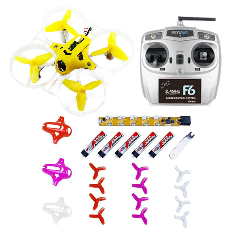 F20024 Kingkong Tiny7 RTF Combo Mini Racing Drone Quadcopter with 800TVL Camera Feiyusky F6 Transmitter Receiver