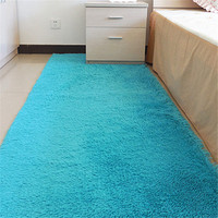 100 200cm Living Room Bedroom Carpet Antiskid Warm Soft Colorful Silk Carpet Modern Carpet Mats Home
