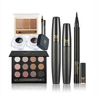 Set HUAMIANLI Brand Professional Makeup Set Waterproof Eyeliner Mascara Eyebrow Smoky Eyes Shadow Eyes Cosmetics Kits